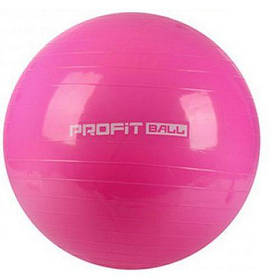 М'яч для фітнесу Фітбол Profit 75 см посилений 0383 Pink