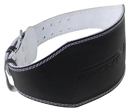 Пояс для тяжелой атлетики с экокожи SportVida SV-AG0065 (S) Black, фото 2