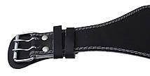 Пояс для тяжелой атлетики с экокожи SportVida SV-AG0065 (S) Black, фото 3