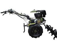 Культиватор дизельный Forte 1350 LUX, колеса 12', 9 л.с. (зеленый)