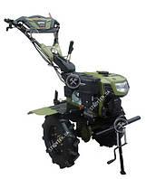 Культиватор дизельный Forte 1050 LUX, колеса 10', 6,5 л.с. (зеленый)