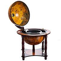 Глобус бар «Оранж.Средневековье», h-56см, d-33 cм (0504-003)