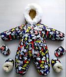 Детский зимний комбинезон с мехом, фото 8