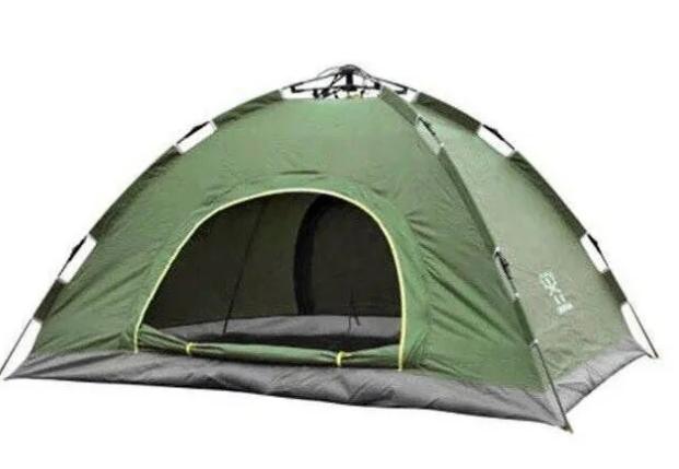 Палатка автоматическая 4-х местная ЗЕЛЕНАЯ, фото 2
