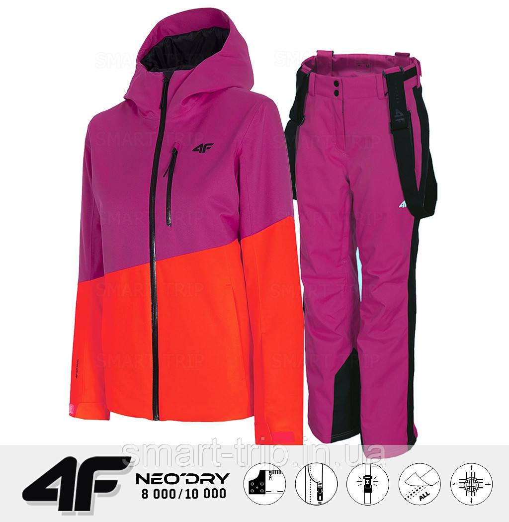 Женский горнолыжный костюм 4F 2021 M розовый (H4Z20-KUDN005-54S-set-M)