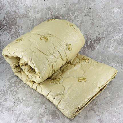 Одеяло закрытое овечья шерсть (Микрофибра) PURE WOOL Двуспальное Евро T-55091, фото 2