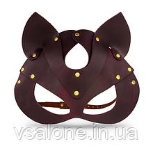 Премиум маска кошечки LOVECRAFT, натуральная кожа Фиолетовый