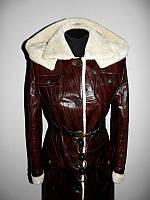 Кожаная куртка дубленка на овчине р.42-46