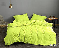 Сатиновый Евро макси комплект постельного белья люкс качество S431