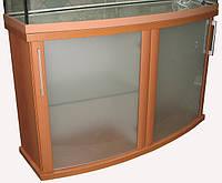 Подставка с фасадами из гнутого стекла для аквариума Овал