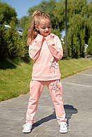 Стильный спортивный костюм для девочки Розовый р. 116, 122, 128