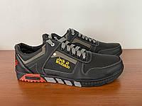 Чоловічі туфлі спортивні чорні прошиті зручні (код 5413), фото 1