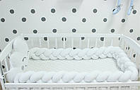 Бортики в ліжечко , захист в дитяче ліжечко , бортики в кроватку , бортик косичка 2407