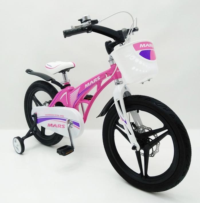 Велосипед двухколесный детский MARS-18 Розовый дисковый тормоз колеса 18 дюймов