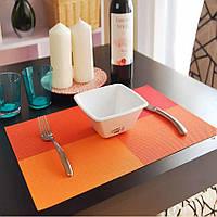 """Салфетка-сет под горячее оранжевая HLS """"4 цвета"""" 30х45см 6910"""
