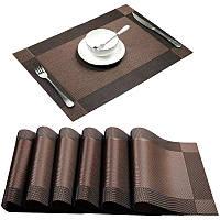 Моющаяся салфетка, сет на стол HLS шоколад 30х45см 6911, фото 1