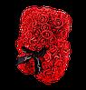 Мишка из 3D роз 25 см красный