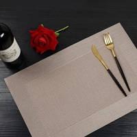 Сервировочный бронзовый коврик, сет на стол HLS бронза 30х45см 6911