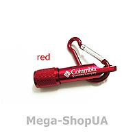 Мини брелок-фонарик для ключей с карабином Metal Aluminum Flashlight Red, фото 1