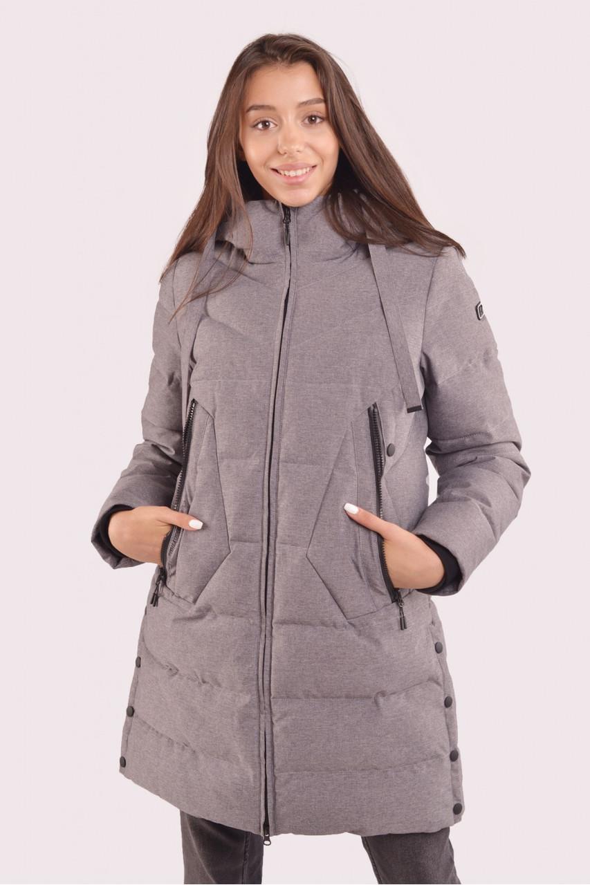 Куртка жіноча зимова з мембраною сіра 70448