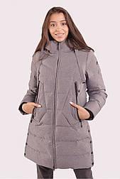 Куртка женская зимняя с мембраной серая 70448