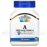 "Витамин А ""21st Century"" 3000 мкг (10000 МЕ) 110 капсул"