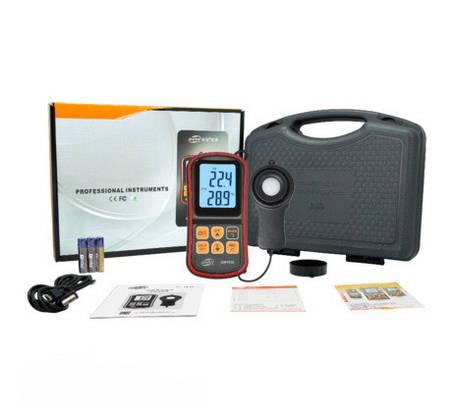 Люксметр + термометр, Bluetooth 200000 Lux BENETECH GM1030, фото 2