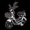 Электрический мопед  CITY gy-4 350W/48V/20AH(AGM) (белый)