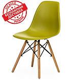 Пластиковый стул на буковых ножках M-05 лайм Vetro Mebel (бесплатная доставка), фото 2