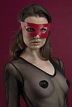 Маска на лицо Feral Feelings - Mistery Mask, натуральная кожа Красный