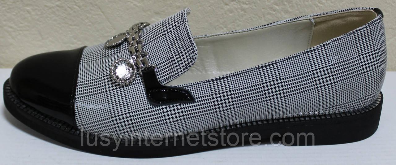 Туфли женские на низком каблуке от производителя модель КЛ2001-1