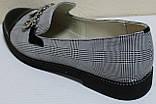 Туфли женские на низком каблуке от производителя модель КЛ2001-1, фото 4