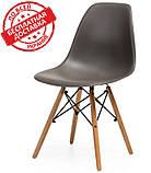 Пластиковый стул на буковых ножках M-05 серый Vetro Mebel (бесплатная доставка), фото 2