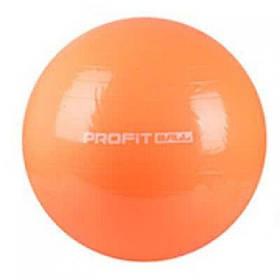 М'яч для фітнесу Фітбол Profit 65 см посилений 0382 Orange