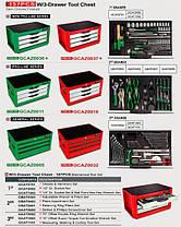 Ящик для СТО с инструментом TOPTUL (Pro-Line) 3 секции 157 ед. GCAZ0011, фото 2