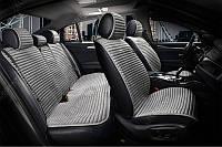 Накидки алькантара серые на сиденья авто Elegant Napoli 700 113 (комплект перед и зад)