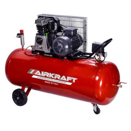 Поршневой компрессор с ременным приводом 200л, 510л/мин, 380В, 3кВт AIRKRAFT AK200-510-380, фото 2