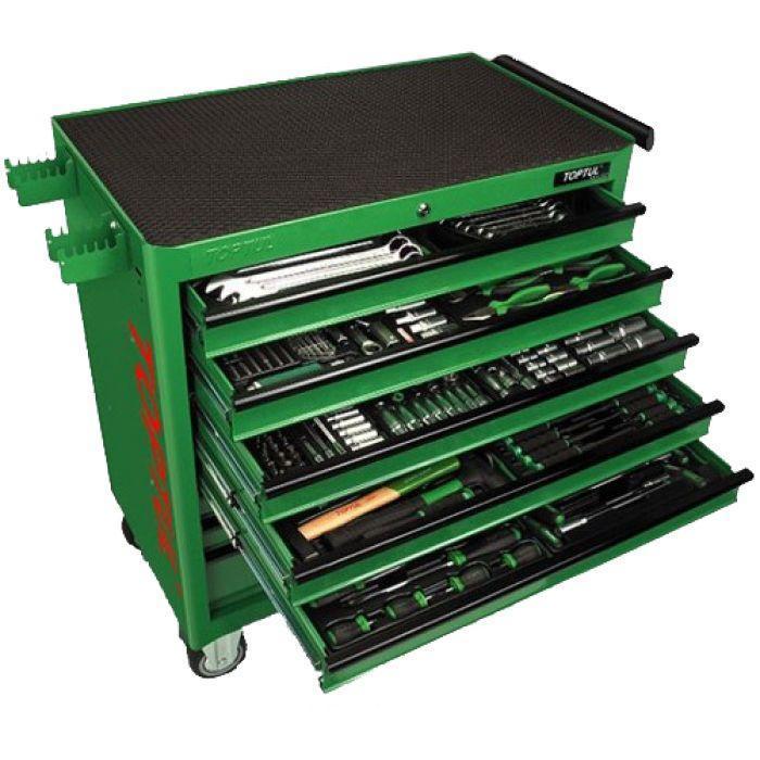 Набір інструментів у візку TOPTUL 8 секцій 360 од. JUMBO GT-36001