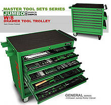 Набір інструментів у візку TOPTUL 8 секцій 360 од. JUMBO GT-36001, фото 2