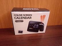 Часы метеостанция с проектором времени Color Screen Calendar 8190, фото 3