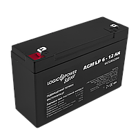 Аккумулятор AGM LP 6V - 12 Ah Silver, фото 1