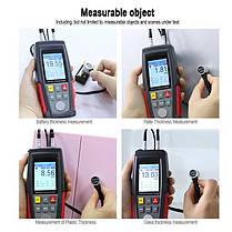 Толщиномер ультразвуковой 1-300мм WINTACT WT100A, фото 3