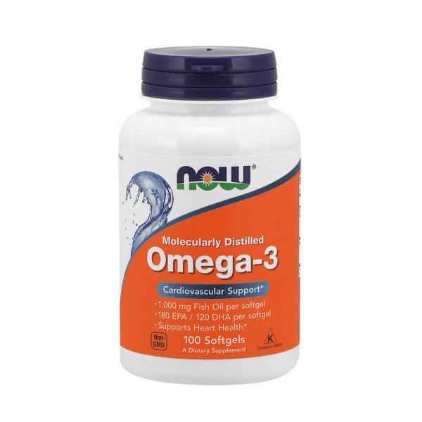 Рыбий жир NOW Foods Omega-3 100 softgels