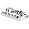 Сетевой фильтр LogicPower 5 розеток 10 м серый ОЕМ (LP-X5)
