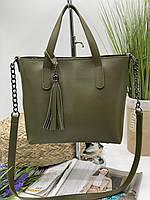 Женская сумка 112 зеленый купить женские сумки оптом от производителя в Украине, фото 1
