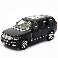 Машинка ігрова автопром «Range Rover» джип, метал, 15 см, чорний (світло, звук, двері відкриваються) 7639, фото 4