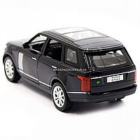 Машинка ігрова автопром «Range Rover» джип, метал, 15 см, чорний (світло, звук, двері відкриваються) 7639, фото 5