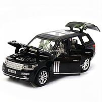 Машинка ігрова автопром «Range Rover» джип, метал, 15 см, чорний (світло, звук, двері відкриваються) 7639, фото 6