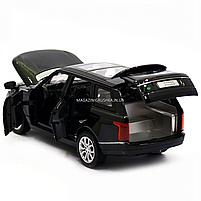 Машинка ігрова автопром «Range Rover» джип, метал, 15 см, чорний (світло, звук, двері відкриваються) 7639, фото 7