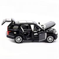 Машинка ігрова автопром «Range Rover» джип, метал, 15 см, чорний (світло, звук, двері відкриваються) 7639, фото 8